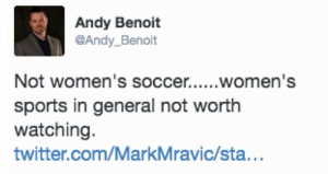 andy benoit women's sports not worth watching